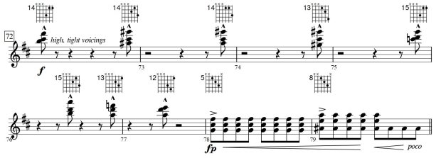 Recommended voicings for m.72-79 of #311-So Much Better