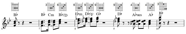 ecommended voicings for verse sections of #3-What You Want