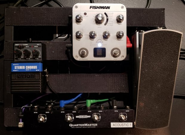 Acoustic guitar pedalboard for RENT - 2018