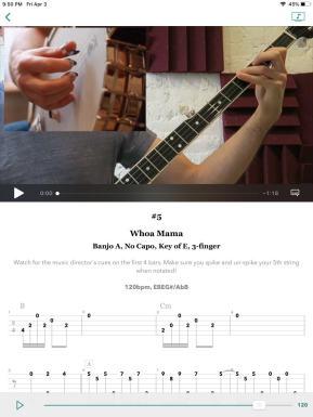 Bright Star Banjo iPad app screenshot