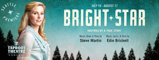 Production poster for Taproot Theatre production of Bright Star, Seattle 2019