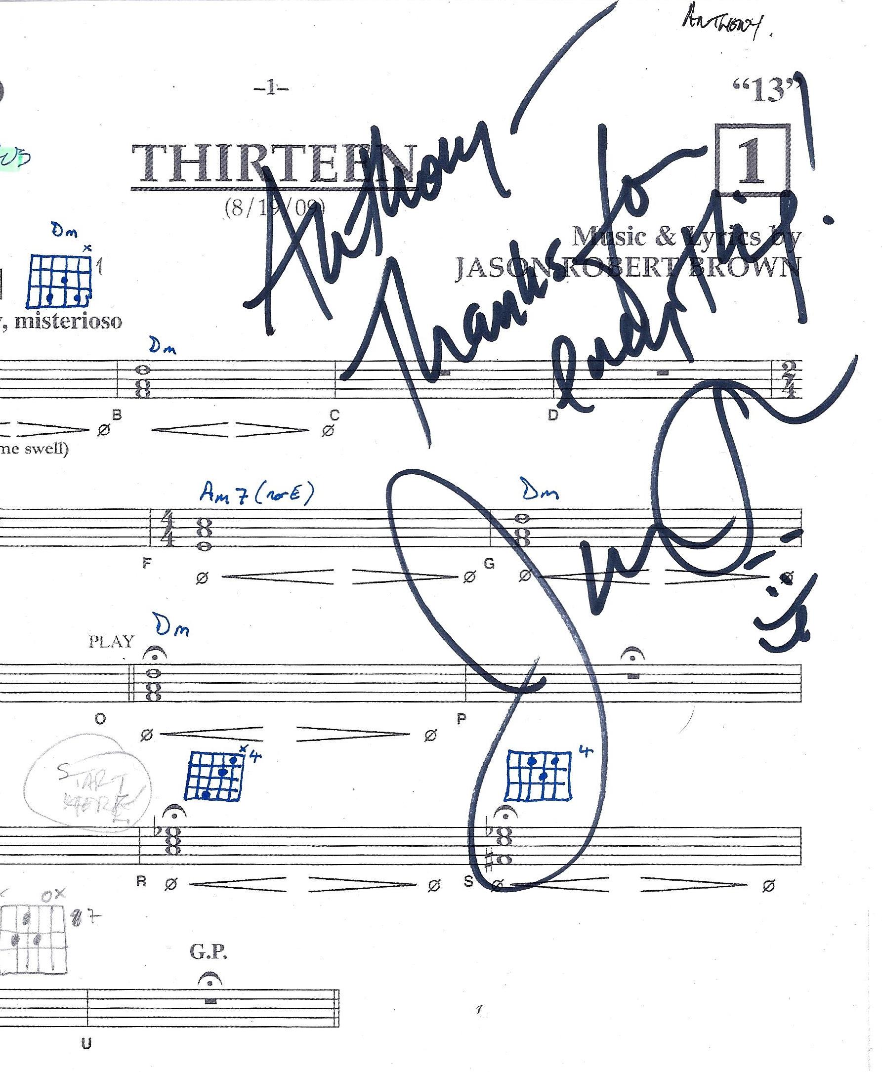 13 - autographed score