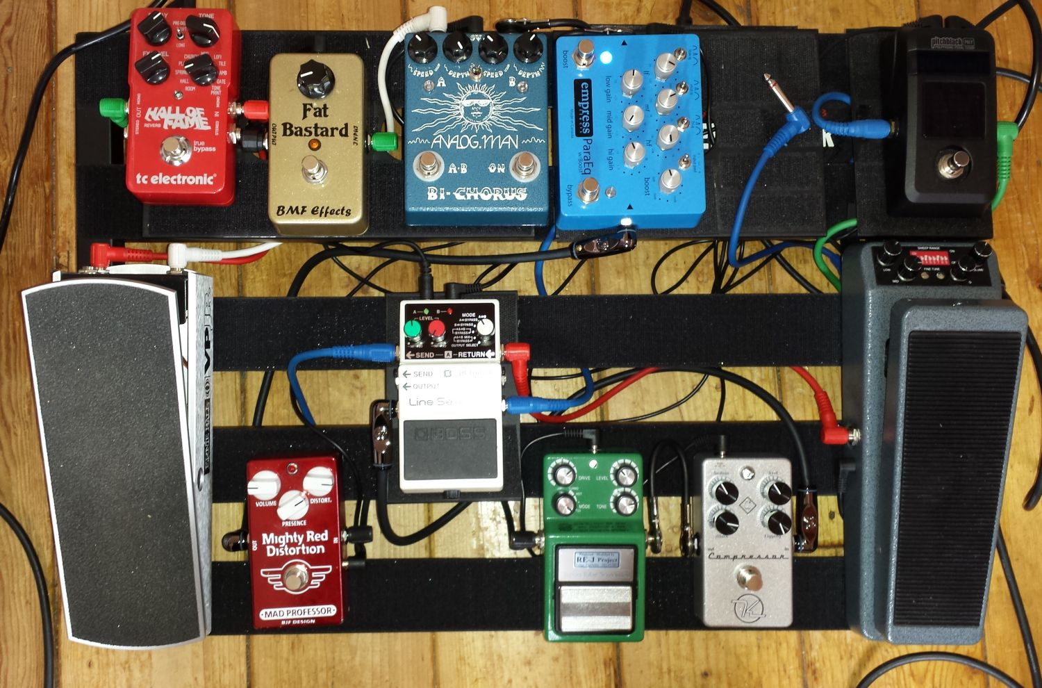 "Pedal board for ""13"" – 2015 production, Seattle"