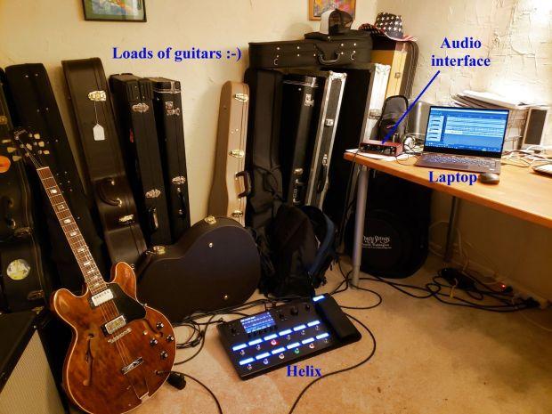 Twelfth Night – recording setup